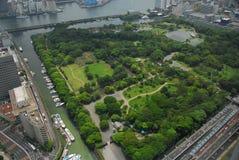 从空气的日本庭院 库存图片