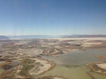 从空气的盐湖城 库存照片