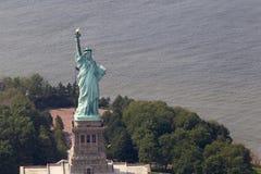 从空气的自由女神像 免版税库存照片
