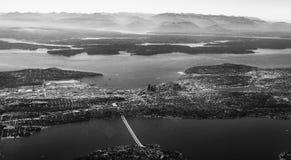 从空气的西雅图 图库摄影