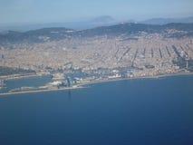 从空气的巴塞罗那 免版税库存图片