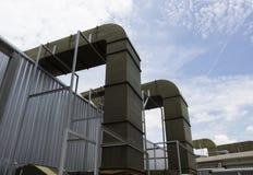 空气管道和通风系统 免版税库存图片