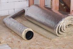 空气管道的绝缘材料 库存照片
