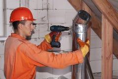 空气管道设施 库存照片