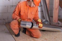 空气管道设施 图库摄影