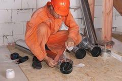 空气管道设施 库存图片