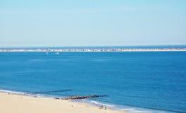空气视图远的rockway海边纽约 免版税图库摄影