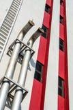 空气透气的管在大厦 图库摄影