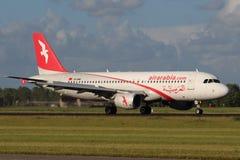 空气阿拉伯半岛Maroc空中客车A320-214 库存图片
