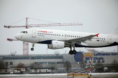 空气马耳他空中客车A319-100 9H-AEJ在慕尼黑机场 库存图片