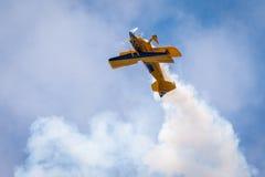空气acrobacy 图库摄影