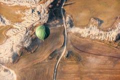 空气baloon着陆 免版税库存图片