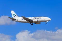 空气Mediterranee波音737 免版税图库摄影