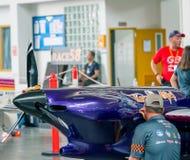 空气Race1世界杯U-Tapao海军空军基地的泰国2017年在泰国 免版税库存照片