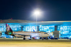 空气Vistara空中客车320股票图象 库存图片