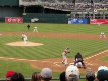 空球面团间距投手投掷 库存照片