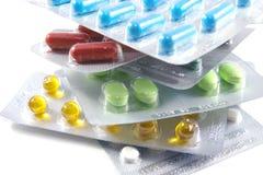 空白不同的查出的药片 免版税库存照片