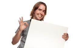 空白乐趣藏品人符号空白年轻人 免版税库存照片