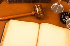 空白书合法的老系统 免版税图库摄影