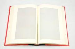 空白书查出的附注 图库摄影