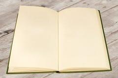 空白书老开放页 免版税图库摄影