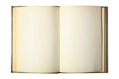 空白书被开张的页 图库摄影