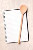 空白书食谱 库存图片