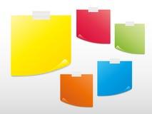 空白五颜六色的复制注意准备好粘性 图库摄影