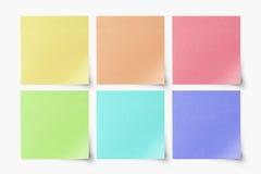 空白五颜六色的复制注意准备好粘性 免版税图库摄影