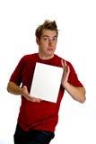 空白从事的藏品人符号空白年轻人 免版税图库摄影