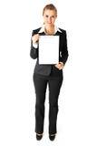 空白企业剪贴板友好藏品妇女 免版税库存图片