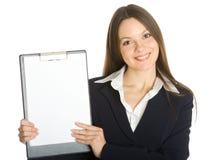 空白企业剪贴板藏品妇女 免版税库存照片