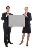 空白企业夫妇藏品符号 免版税库存图片
