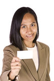 空白企业女实业家看板卡藏品 免版税图库摄影