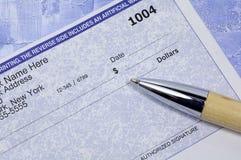 空白企业检查 免版税图库摄影