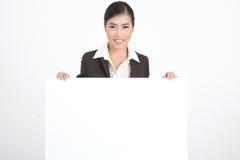 空白企业藏品符号妇女 免版税图库摄影