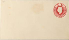 空白信包乔治国王打印v 免版税库存照片
