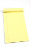 空白倾斜页黄色 免版税库存照片
