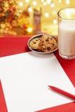 空白儿童圣诞节信函愿望 库存图片