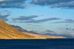 空白克利特希腊的山 库存图片