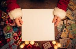 空白克劳斯藏品圣诞老人符号 免版税库存照片