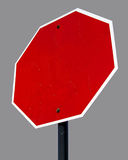 空白八角形物符号街道 免版税库存照片