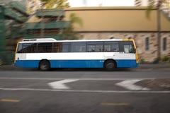 空白公共汽车 免版税库存图片