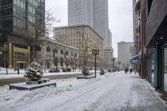 空白冬天在蒙特利尔 免版税库存照片