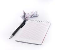空白剪报查出的记事本路径 免版税图库摄影