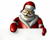 空白剪报边缘路径圣诞老人符号 库存照片