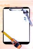 空白剪贴板工作者 库存图片