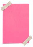 空白包装纸粉红色被困住的磁带 库存图片