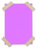 空白包装纸粉红色被困住的磁带 库存照片