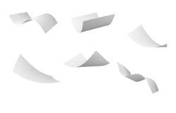 空白卷毛飞行纸张风 免版税库存图片